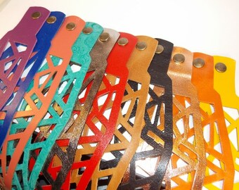 Hand-Cut Leather Bracelets