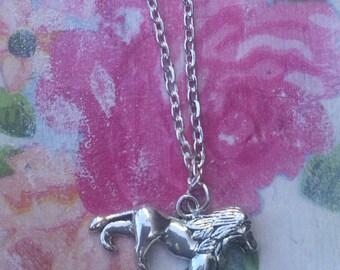 Silver Aslan charm bracelet