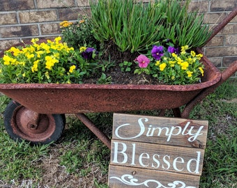 Rustic Simply Blessed 11x12 Pallet Sign
