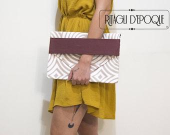 -20% balance bag classic, handmade wrist bag optical print