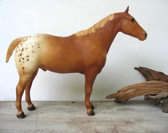 Breyer Horse Appaloosa Statue Sorrel Chestnut #3095 Vintage Flaxen Mane Tail 1980's