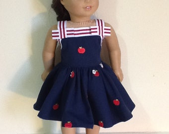 """Gymboree Candy Apple Dress Reconstructed to fit 18"""" American Girl Doll"""