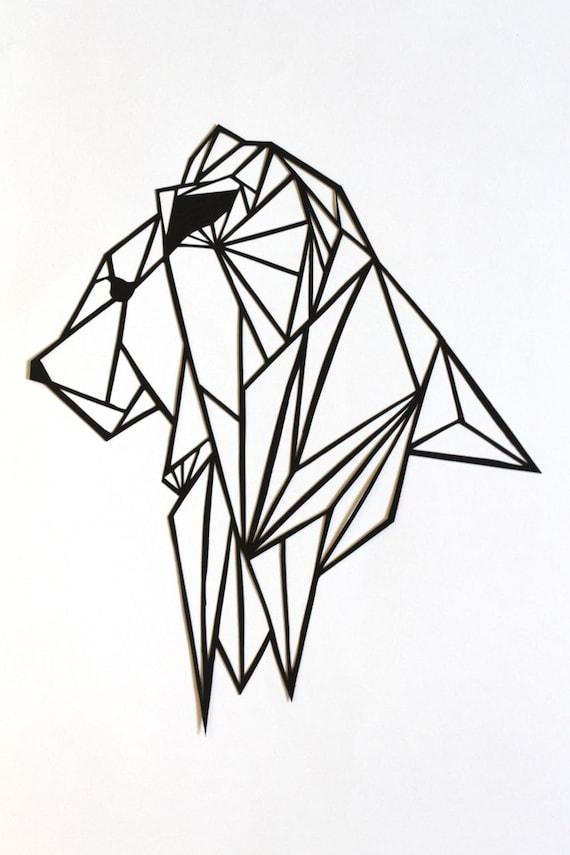 original lion papercut art geometric papercut. Black Bedroom Furniture Sets. Home Design Ideas
