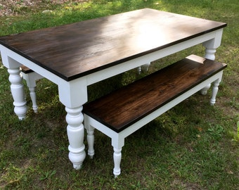 Rustic Country Style Dining Room Table, Farmhouse Table, Dining Table, Reclaimed  Table,