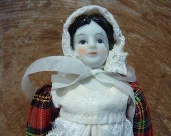 Vintage Porcelain Doll Christmas Ornament Bisque Collectible Tree Decor Toy (#1177)