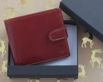 Men's Tan Leather Wallet In A Gift Box