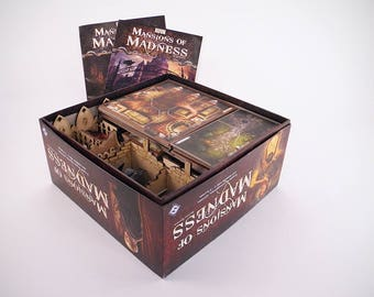 Mansion of Madness 2nd edition board game, wood insert, organizer