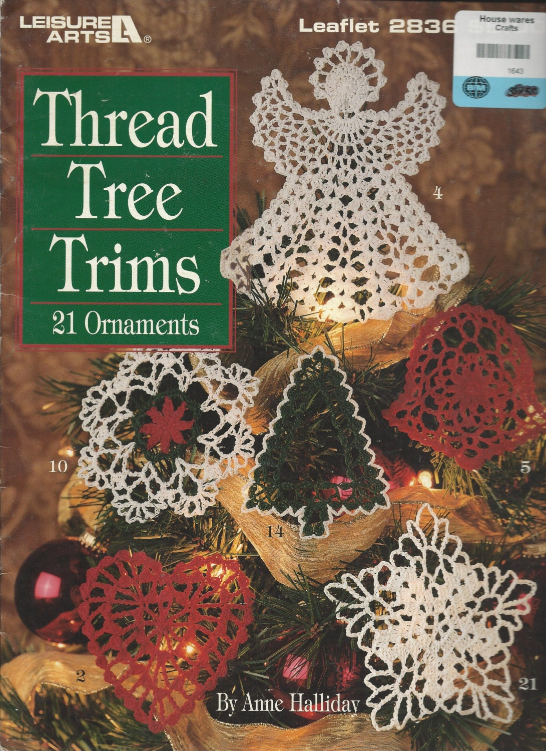 Thread Crochet Tree Trims Pattern Book - CHRISTMAS ORNAMENTS ...