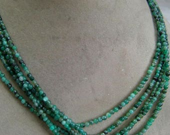 1 Strand  Emerald Rough  beads  15''  7, grams 3To 4 MM