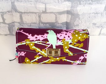 READY to SHIP Wallet - Handmade Clutch Wallet - Gorgeous Designer Fabric NCW - Joel Dewberry Necessary Clutch Wallet