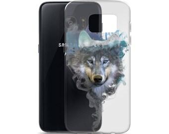 Samsung Transparent Case - Wolf - Spirit Animal