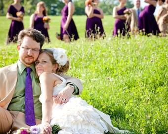 Purple Wedding Neckties, Purple Neckties, Mens Neckties
