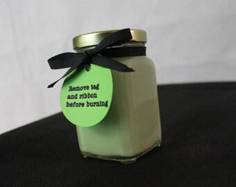 6 oz natural soy wax candle