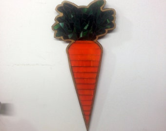 Carrot Mosaic Plaque - Made to Order
