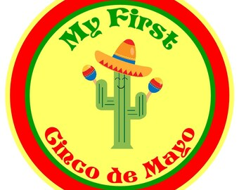 My First Cinco De Mayo, May 5, Fiesta Iron on applique