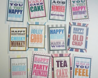 Birthday Greeting Cards Box Set of 12