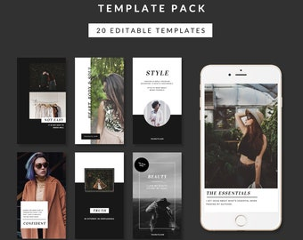 instagram story templates - fashion collection - easy to edit templates for instagram stories