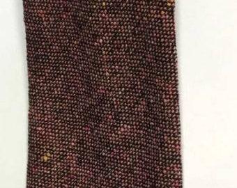 Mens Vintage 1960s Handwoven Irish Tweed Necktie Tie