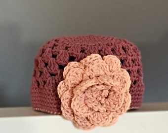 RTS in a 6-12 month Size photo prop hat beanie pastel shades first photos Hat Crocheted