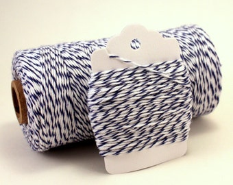 Blue Baker's Twine - Navy Twine - Striped Blue Twine - Blue and White Twine - Blueberry Divine Twine - Blue Gift Wrapping - Blue String