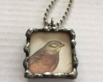 Bird soldered necklace