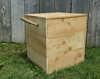 Rustic Storage Box Seat
