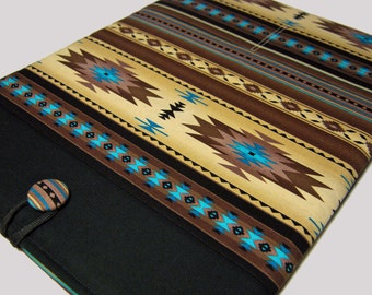 Macbook Pro Sleeve, Macbook Pro Case, 13 inch Macbook Pro Cover, 13 inch Macbook Pro Case, Laptop Sleeve, Blue and Brown Southwest