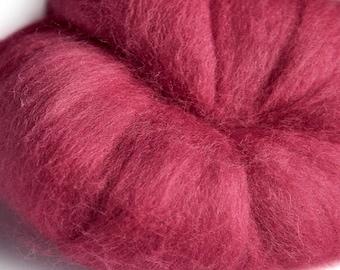 Merino Fuschia (Pink) Wool Roving 100 grams
