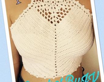 Crochet summer crop top