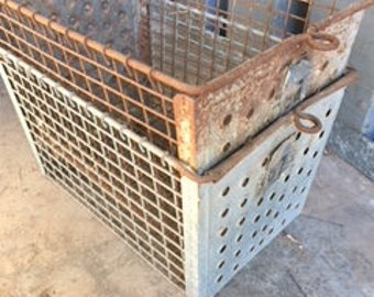 Vintage wire baskets