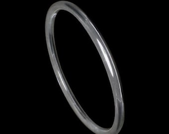 Solid Sterling Silver 5 mm  Golf Bangle