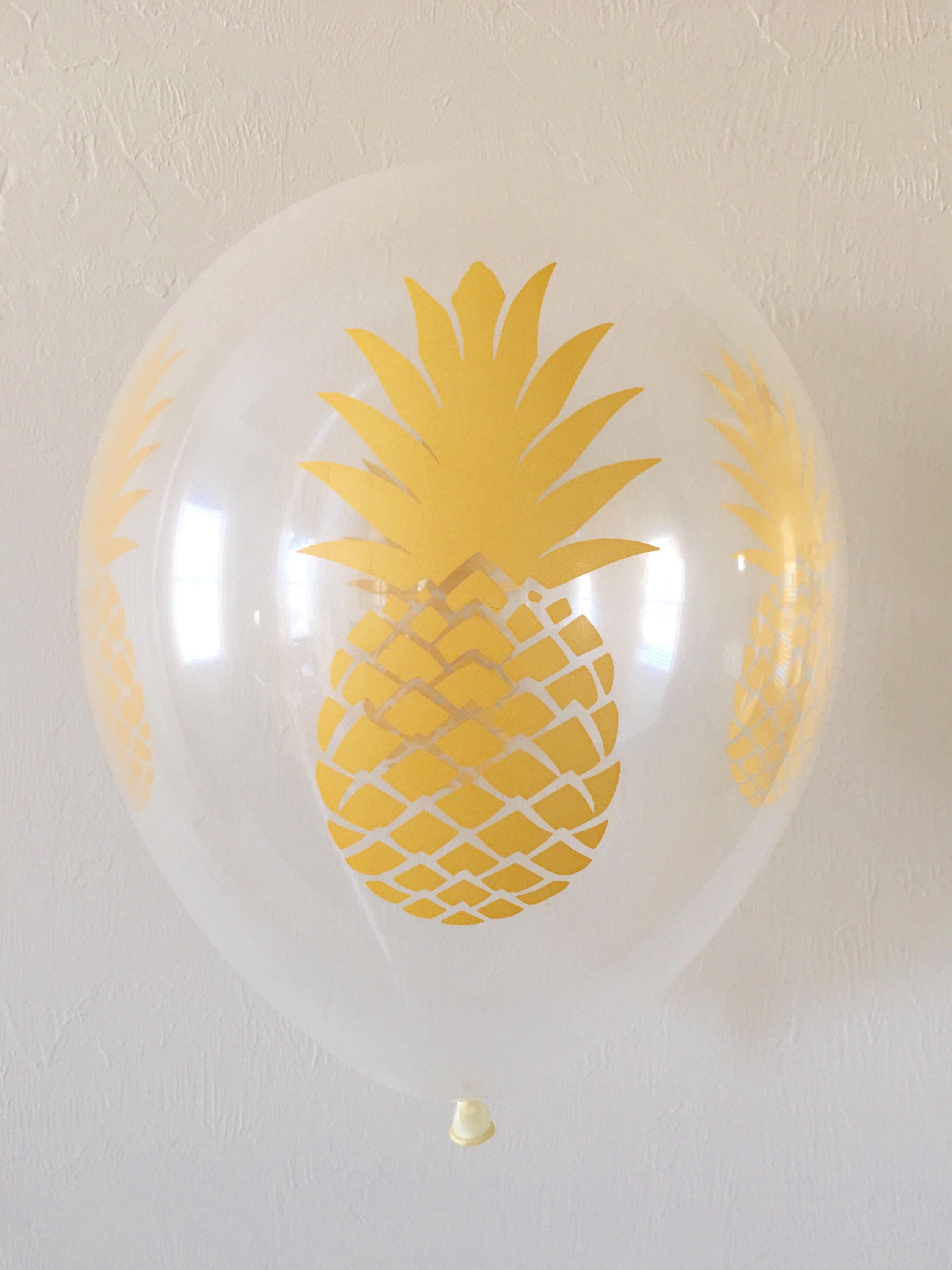 Pineapple 11 inch Latex BalloonsGold Pineapple