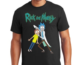 Rick and Morty T Shirt Wanted TV Show Funny Cartoon Network Shirts