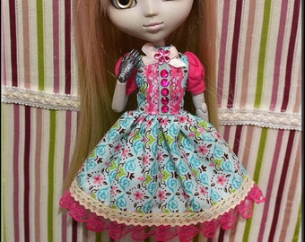 Shirt and skirt set for Blythe, Pullip Doll and Obitsu size M.
