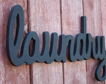 Laundry Sign, Laundry Room - Home Decor - Wooden Laundry Sign