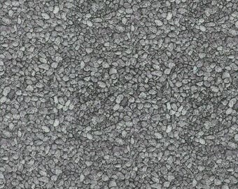 RJR Fabrics; 'Grey Pebbles' Fabric by the Yard, Danscapes by Dan Morris, 1416-2