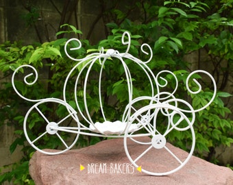 Cinderella Princess Pumpkin Carriage Fairly Tale Wire wrought metal Iron floral Arrangement supplies Plant Stand garden decoration Disney