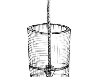 Airplane Fuel Sampler Aviation Drawing Print
