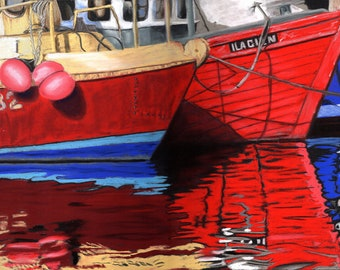 Colorful Harbor - Original Pastel Painting by artist Valorie Sams