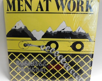 Men at Work - Business as Usual Vintage Vinyl Record Album lp New wave Reggae Rock and Roll Pop FC 37978 Columbia 1981 EX/EXC+ Shrink