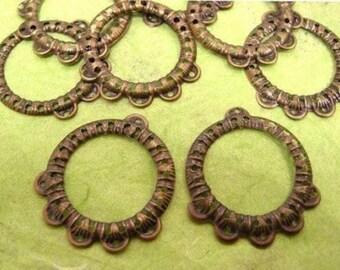 12pc antique bronze metal setting-1025
