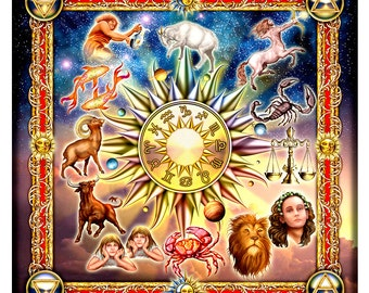 Reading Cloth - Golden Zodiac