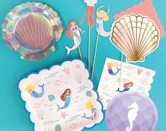Mermaid Shells Seahorse Iridescent Hologram Under the Sea collection
