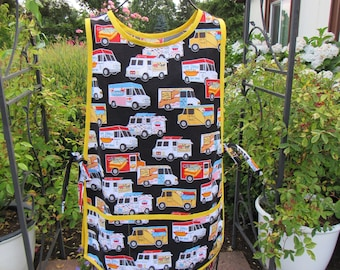 Colorful Food Truck Print Cobbler Apron