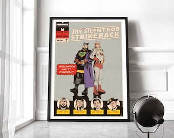Jay and Silent Bob print, Jay & Silent Bob poster, Clerks poster print, Kevin Smith movie poster