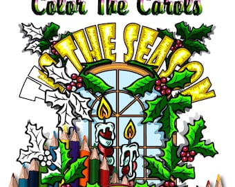 Christmas Coloring Book For Adults, Color The Carols Christmas Coloring Pages