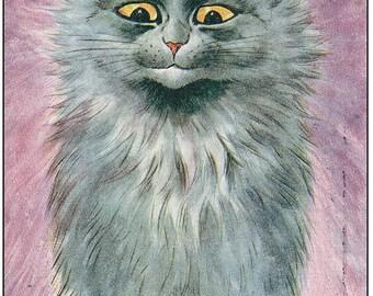 Louis Wain Blue Russian Cat Mouse Mat Mouse Pad