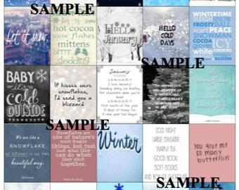 Winter/Snow Planner Stickers *Instant Download*