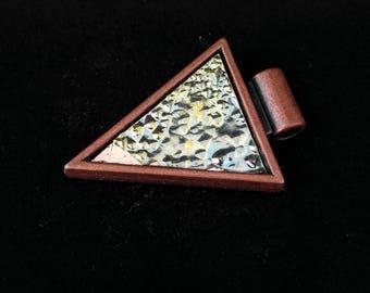Bronze Bismuth Crystal Arrowhead