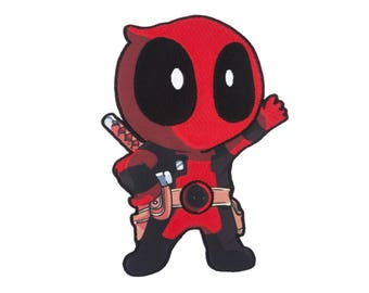 Deadpool Iron On Applique, Genuine Marvel Iron On Patch, Deadpool Applique, Deadpool Patch, Superhero Applique, Kids Patch